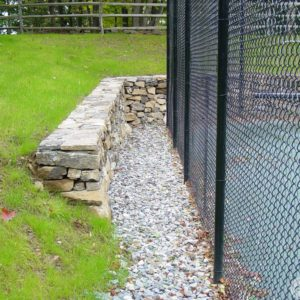 Fence and Rock Wall