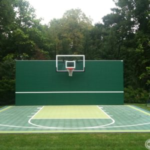 Basketball Court with Backboard