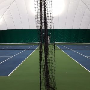 Inside Bubble Court with Net Divider