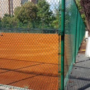 Red Clay Court with Fence