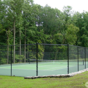 Asphalt Court with Fence