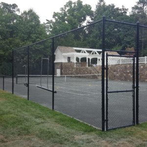 Vinyl Fence Around Court