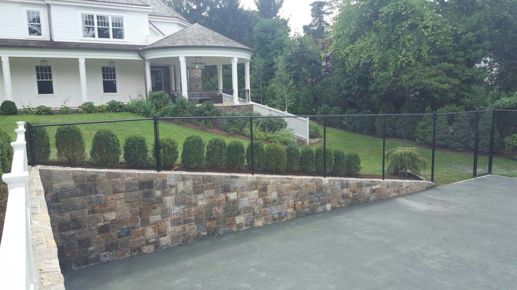 Retaining Walls Oval Tennis