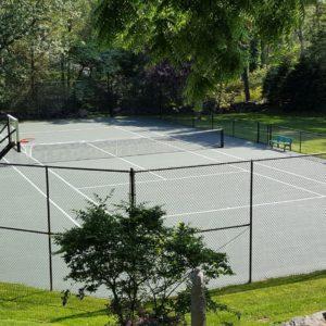 Shadow Lines Basketball on Tennis